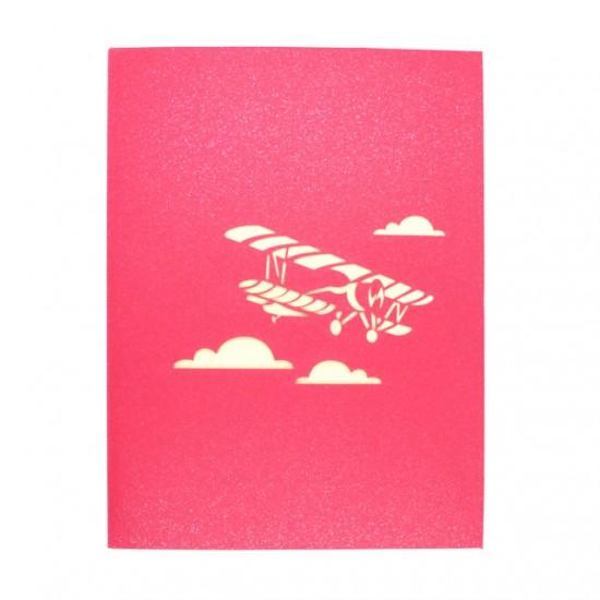Biplane in Clouds